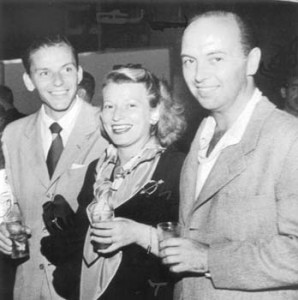 Frank Sinatra, Jack's wife, Isobel Lennart (screenwriter of Funny Girl) & Jack